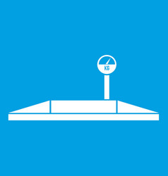 Parking scales icon white vector