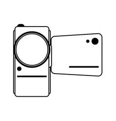 Portable video camera icon image vector