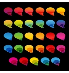Rainbow colorful transparent chat bubbles set on vector image vector image