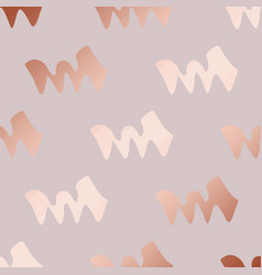 Rose gold decorative pattern with abstract vector