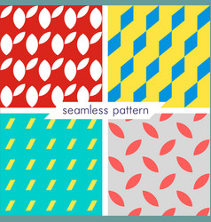 Set of four seamless geometrical patterns 10 vector