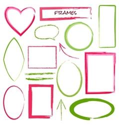 Set of grunge brush frames vector image vector image
