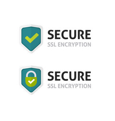 Ssl certificate icon secure encryption vector