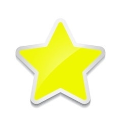 Star icon sticker on white background vector image