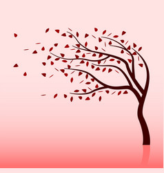 Summer storm and tree vector