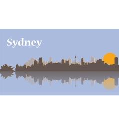 Sydney skyline at sunrise vector