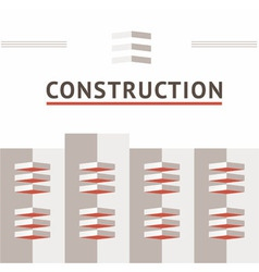 Symbol of the construction company vector image