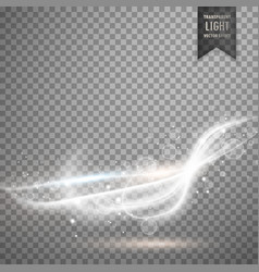 Transparent white light streal effect background vector
