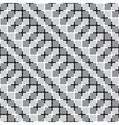Waving Shapes Optical Seamless Pattern vector image vector image