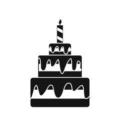Cake icon simple style vector
