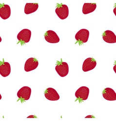 Strawberry red white textile print seamless vector