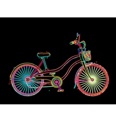 Artistic bicycle vector