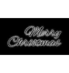Glitter silver inscription merry christmas vector