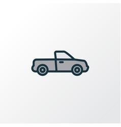 Pickup colorful outline symbol premium quality vector