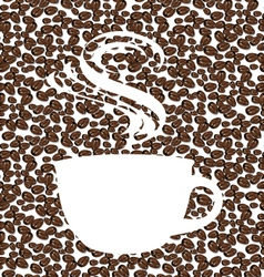 The concept of coffee background vector image
