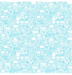 Line household white seamless pattern vector