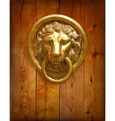 The door handle - the head of a lion vector image