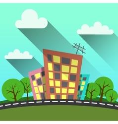 flat style modern city vector image