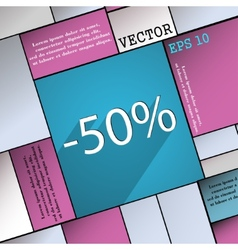 50 percent discount icon symbol flat modern web vector