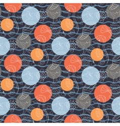 Marine pattern with polka dots vector image