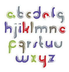 Acrylic alphabet letters set hand-drawn colorful vector