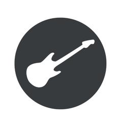 Monochrome round guitar icon vector