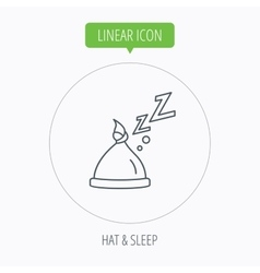 Baby hat with nodule icon newborn cap sign vector