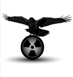 raven on radiation symbol vector image