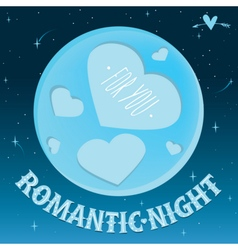 Romantic night under the moon vector