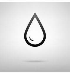 Drop of water black icon vector