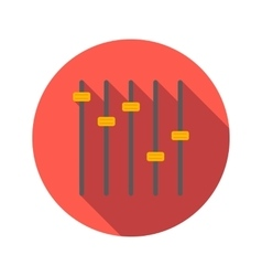 Equalizer flat icon vector