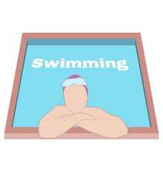 Swimmer in swimming pool vector