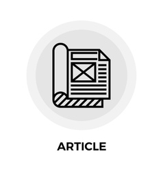 Article flat icon vector