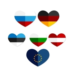 Heart russia austria europe germany icon vector