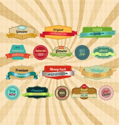 Retro badges and labels vector