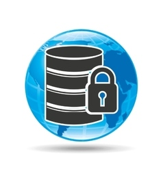 Cloud security protection data center vector
