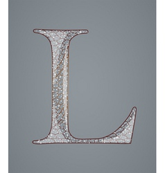Abstract letter L vector image