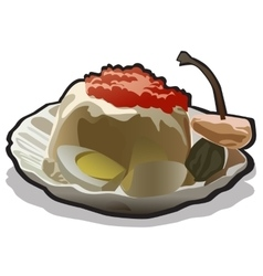 Appetizing food icon in cartoon style vector