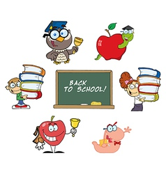 Back to School-Collection vector image