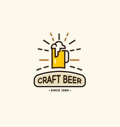 Beer house badge vector