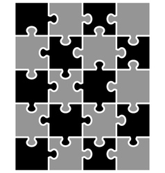 Black and white puzzle vector