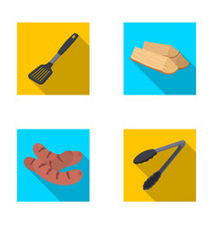 blade kitchen firewood sausages and other for vector image