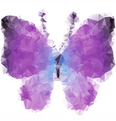 Bright violet butterfly vector image vector image