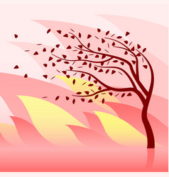 Burning tree and wildfire vector