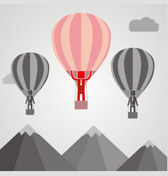 businessman in balloon fly pass his competitor vector image vector image