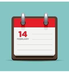 Calendar mock up vector