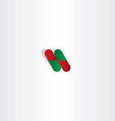 Capsule pill pharmacy logo icon element vector
