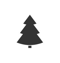 christmass tree icon vector image vector image