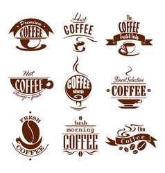 Coffee cups for shop or cafeteria icons vector
