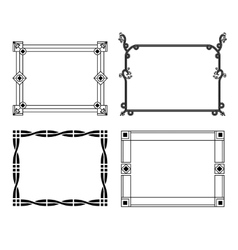 Decorative hand-drawn frames vector image vector image